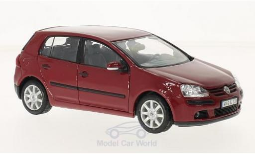Volkswagen Golf V 1/24 Welly rosso 2004 modellino in miniatura