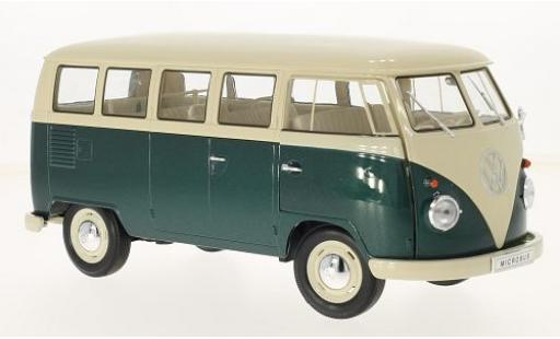 Volkswagen T1 1/18 Welly beige/green 1963 bus diecast model cars