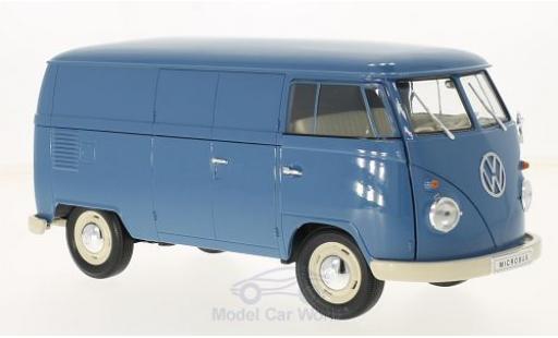 Volkswagen T1 B 1/18 Welly bleue 1963 Kastenwagen miniature