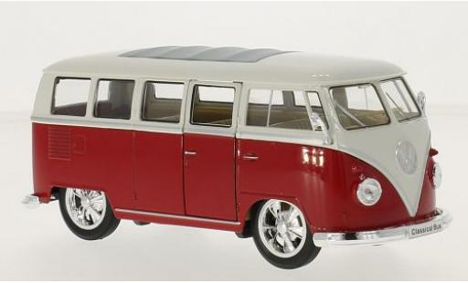 Volkswagen T1 1/24 Welly Bus Low Rider rot/weiss 1963 modellautos