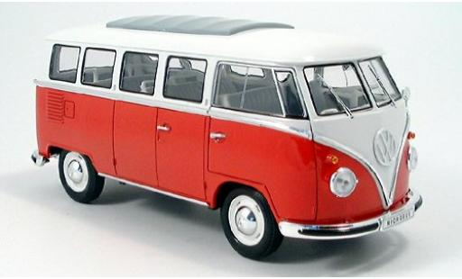 Volkswagen T1 1/18 Welly Bus red/white 1962 diecast model cars