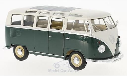 Volkswagen T1 B 1/24 Welly Samba dunkelgrün/blanche 1963 miniature