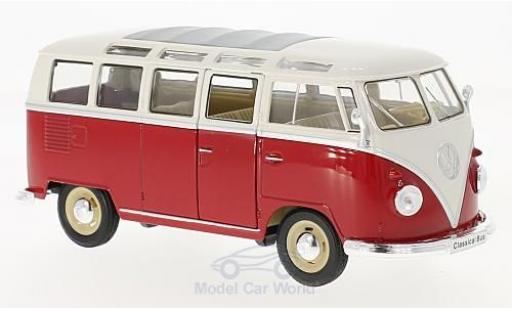 Volkswagen T1 B 1/24 Welly Samba rouge/blanche 1963 miniature