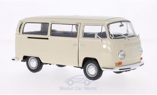 Volkswagen T2 B 1/24 Welly us beige 1972 miniature