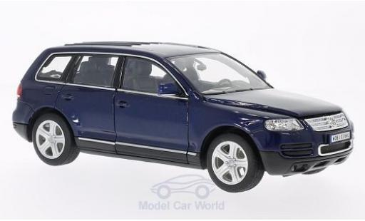 Volkswagen Touareg 1/24 Welly bleue 2002 miniature