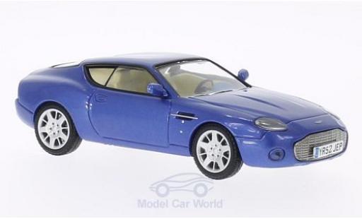 Aston Martin DB7 1/43 WhiteBox Vantage Zagato metallise bleue 2003 miniature