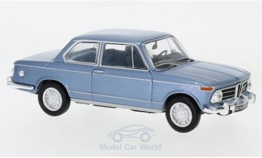 Bmw 2002 1/43 WhiteBox ti métallisé bleue 1968 miniature