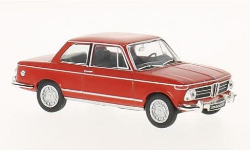 Bmw 2002 1/43 WhiteBox ti rosso 1968 modellino in miniatura