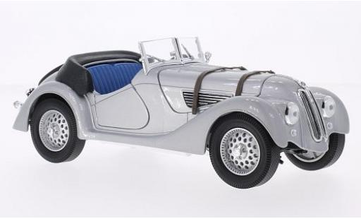 Bmw 328 1/18 WhiteBox grise 1940 Verdeck couché avec miniature