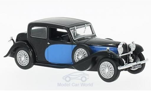 Bugatti 57 1/43 WhiteBox Galibier bleue/noire 1934 miniature