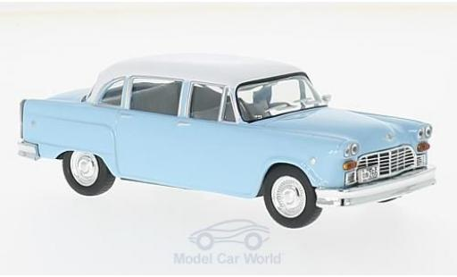 Checker Marathon 1/43 WhiteBox 327 bleue/blanche 1964 miniature