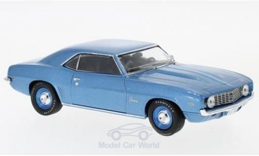 Chevrolet Camaro 1/43 WhiteBox metallise bleue 1969 miniature