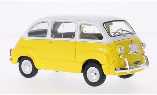 Fiat 600 1/24 WhiteBox Multipla yellow/white 1960 diecast model cars