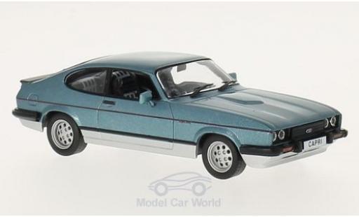 Ford Capri 1/43 WhiteBox MKIII 2.8 Injection metallise bleue/grise 1982 miniature