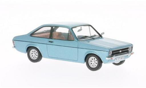 Ford Escort 1/43 WhiteBox II metallise bleue 1975 miniature