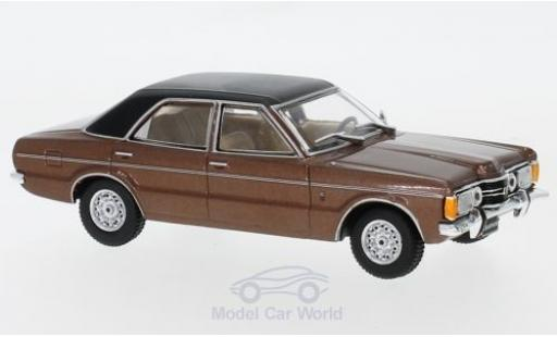 Ford Taunus 1/43 WhiteBox GXL metallise marron/noire 1974 miniature