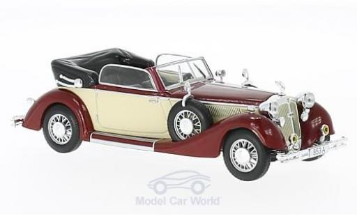 Horch 853 1/43 WhiteBox A Cabriolet rouge/beige 1938 miniature