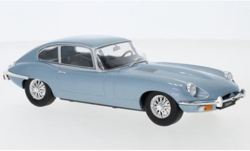 Jaguar E-Type 1/24 WhiteBox metallise bleue miniature