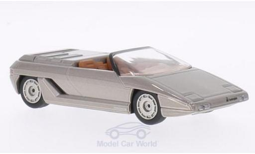 Lamborghini Athon 1/43 WhiteBox Bertone metallise grise 1980 miniature