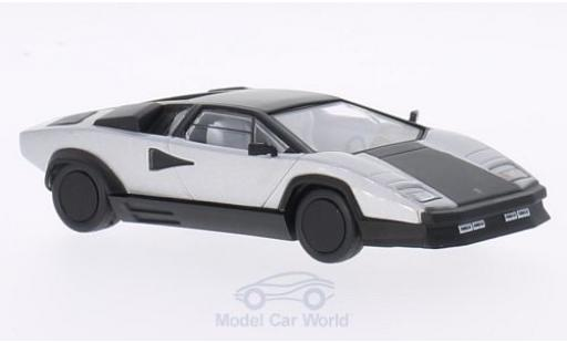Lamborghini Countach 1/43 WhiteBox Evoluzione grise/matt-noire 1987 miniature