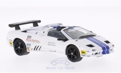 Lamborghini Diablo 1/43 WhiteBox VT-R Roadster Trofeo white/blue 1997 diecast model cars