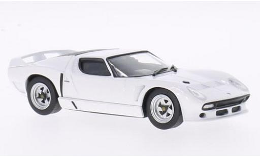 Lamborghini Miura 1/43 WhiteBox SVJ Roadster blanche 1981 miniature