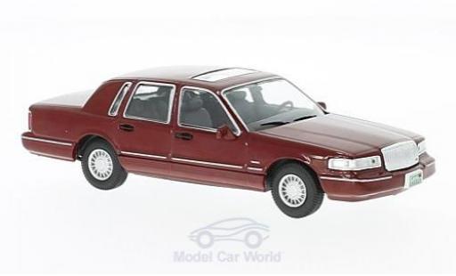 Lincoln Town Car 1/43 WhiteBox dunkelrouge 1996 miniature