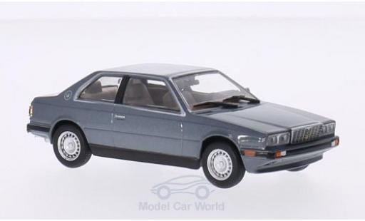 Maserati Biturbo 1/43 WhiteBox metallise grey diecast model cars