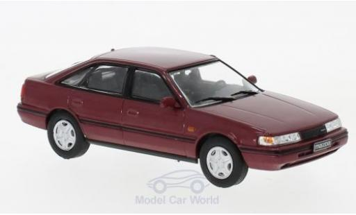 Mazda 6 1/43 WhiteBox 2 metallise rouge 1990 miniature