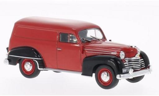 Opel Olympia 1/43 WhiteBox rouge/noire 1950 fourgon miniature