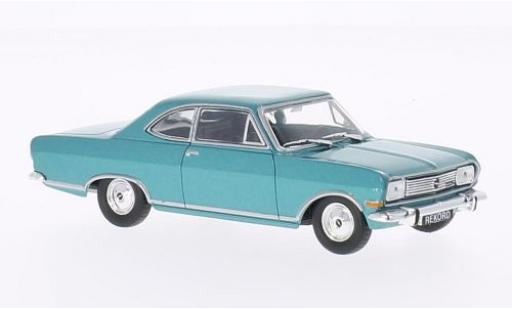 Opel Rekord 1/43 WhiteBox B Coupe metallise turquoise 1965 diecast model cars