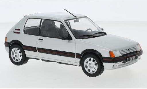 Peugeot 205 1/24 WhiteBox 1.9 GTI gris 1988 coche miniatura