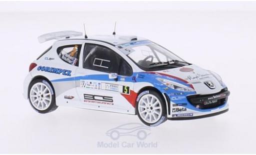 Peugeot 207 S2000 1/43 WhiteBox No.5 FIA European Rally Championship Tour de Corse 2013 B.Bouffier/X.Panseri miniature