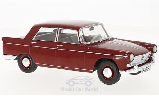 Peugeot 404 1/24 WhiteBox rouge 1960 miniature