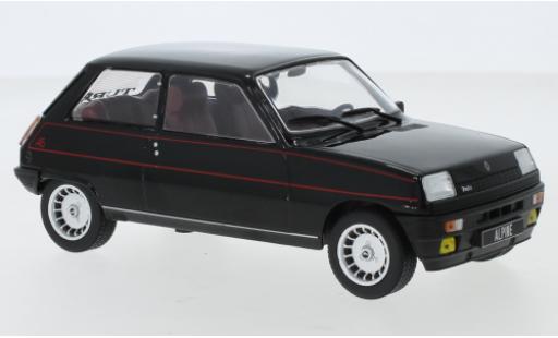 Renault 5 1/24 WhiteBox Alpine noire/Dekor 1982 miniature