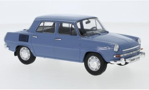Skoda 1000 1/24 WhiteBox MB bleue 1969 miniature
