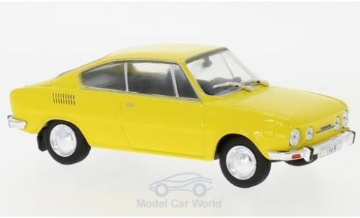 Skoda 110 1/43 WhiteBox R jaune 1970 miniature