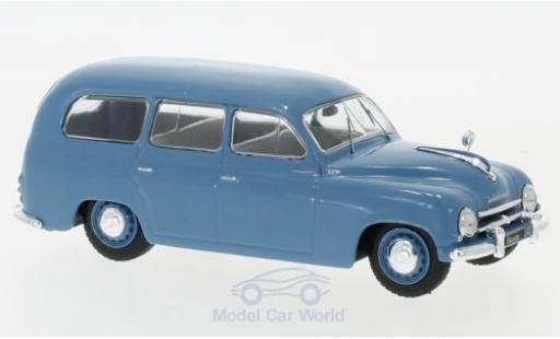 Skoda 120 1/43 WhiteBox 1 Kombi bleue 1954 miniature