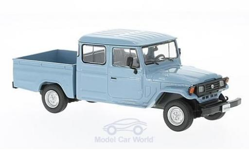 Toyota Land Cruiser 1/43 WhiteBox Bandeirante Pick Up bleue 1976 miniature