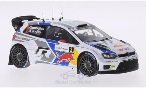 Volkswagen Polo 1/43 WhiteBox R WRC No.2 FIA World Rally Championship Rallye Frankreich 2014 J-M.Latvala/M.Anttila miniature