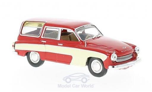 Wartburg 312 1/43 WhiteBox Camping rouge/beige 1960 miniature