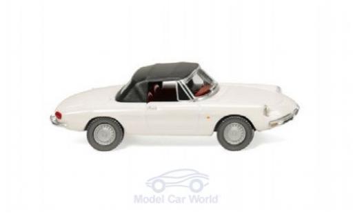 Alfa Romeo Spider 1/87 Wiking blanco/negro miniatura