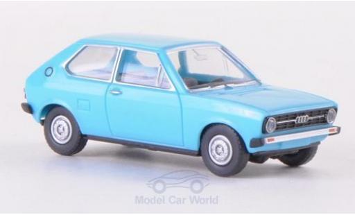 Audi 50 1/87 Wiking bleue miniature