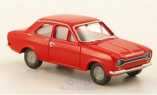 Ford Escort 1/87 Wiking MKI red diecast