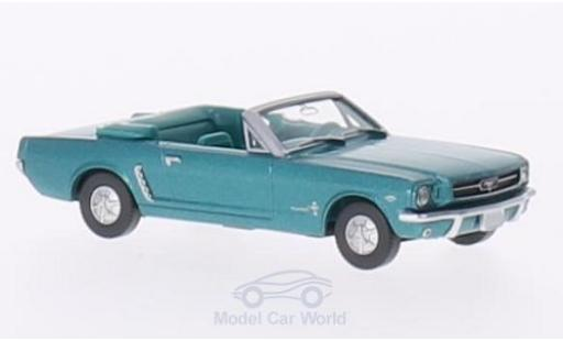 Ford Mustang 1/87 Wiking Convertible metallise turquoise miniature