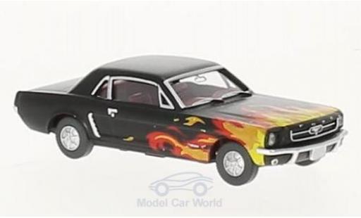 Ford Mustang 1/87 Wiking noire/Dekor miniature