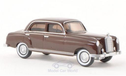 Mercedes 220 1/87 Wiking marrone modellino in miniatura