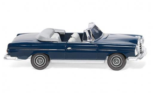 Mercedes 280 1/87 Wiking SE Cabriolet blue 1967 diecast model cars
