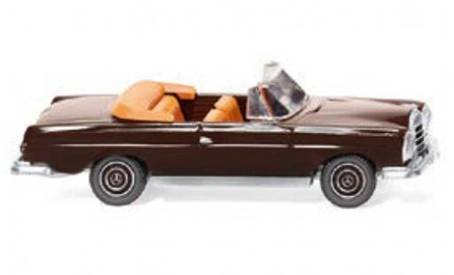 Mercedes 280 1/87 Wiking SE Cabriolet marron 1967 miniature