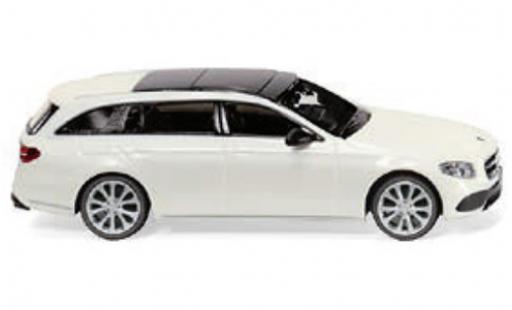 Mercedes Classe E 1/87 Wiking T-Modell Avantgarde (S213) metallise blanche miniature